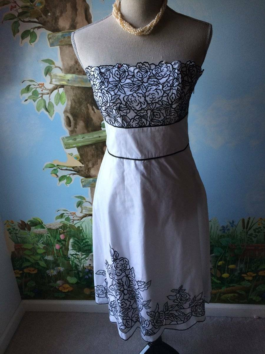 Weiß House schwarz Market damen Strapless Floral Dress Größe 6
