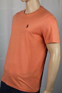 Détails sur Polo Ralph Lauren Orange Classique Ras Du Cou T Shirt Bleu Poney