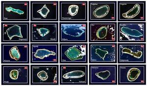 Tuamotu Islands Atoll Satellite View French Polynesia New Postcard