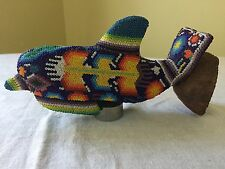 Huichol Beaded Dolphin Mexican Folk Art