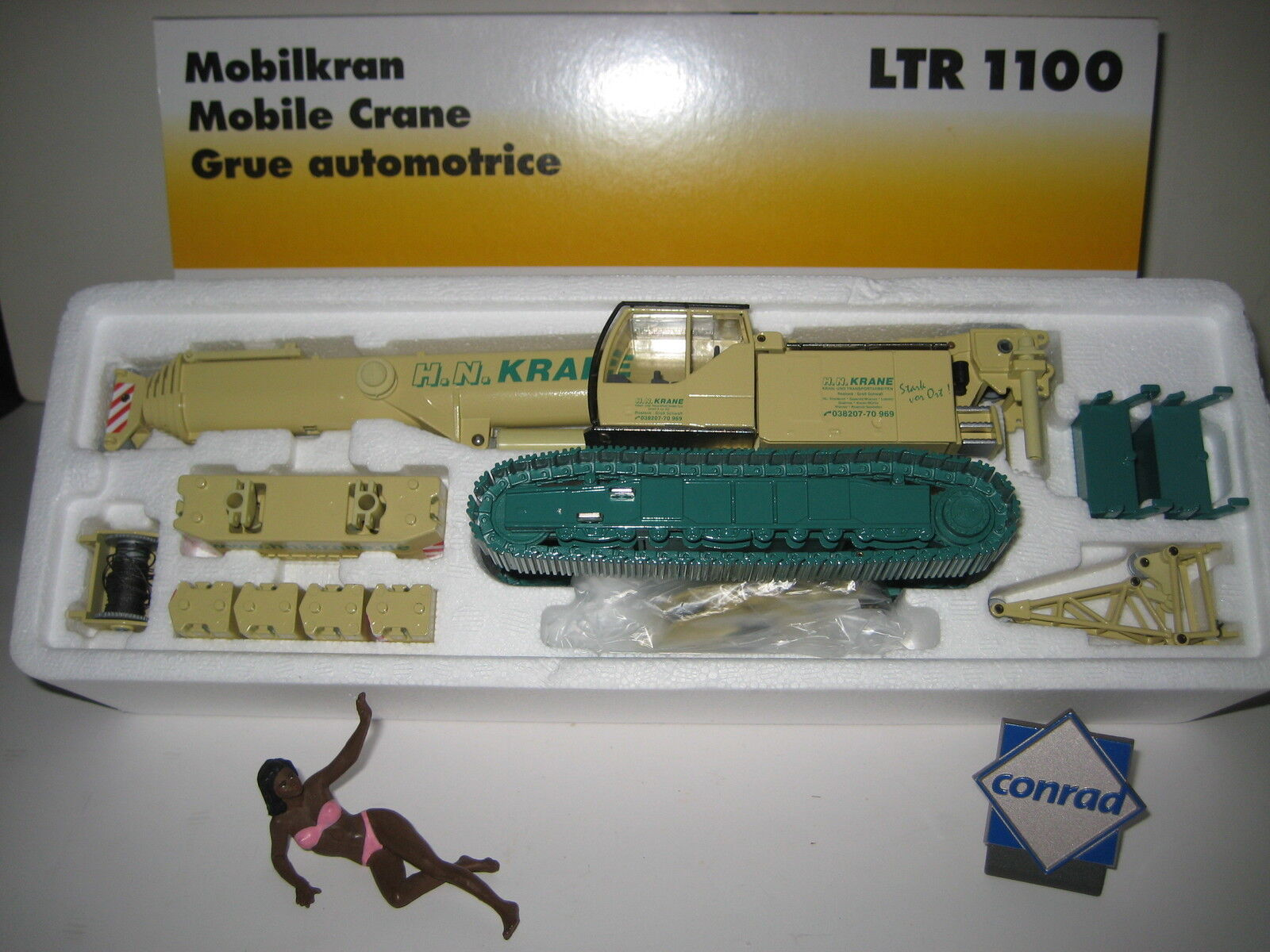 LIEBHERR LTR 1100 TELESKOPKRAN h&n  2738.10 CONRAD 1 50 NEUF dans sa boîte