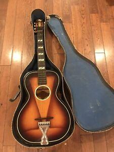 B & J Serenader   USA United Parlor Guitar 1940s