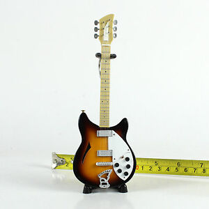 """TA80-11 Barbie Dolls Music Instrument Electric Guitar and Stand 6.7/"""" Brown"""
