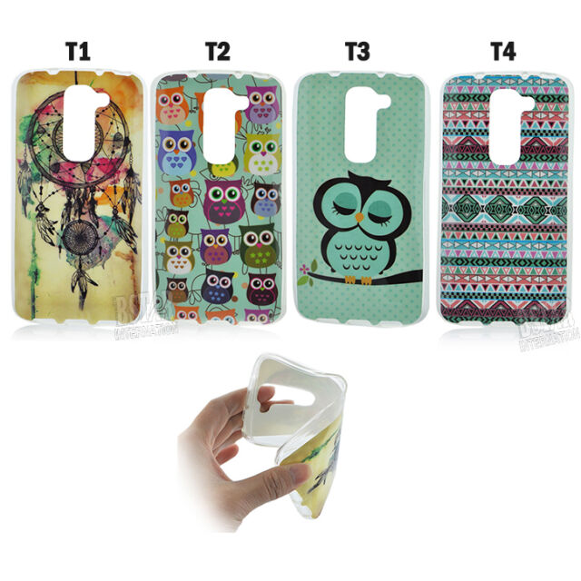 Fashional Owl Pattern Soft TPU Back Case Cover for LG G2 mini Phone Protector