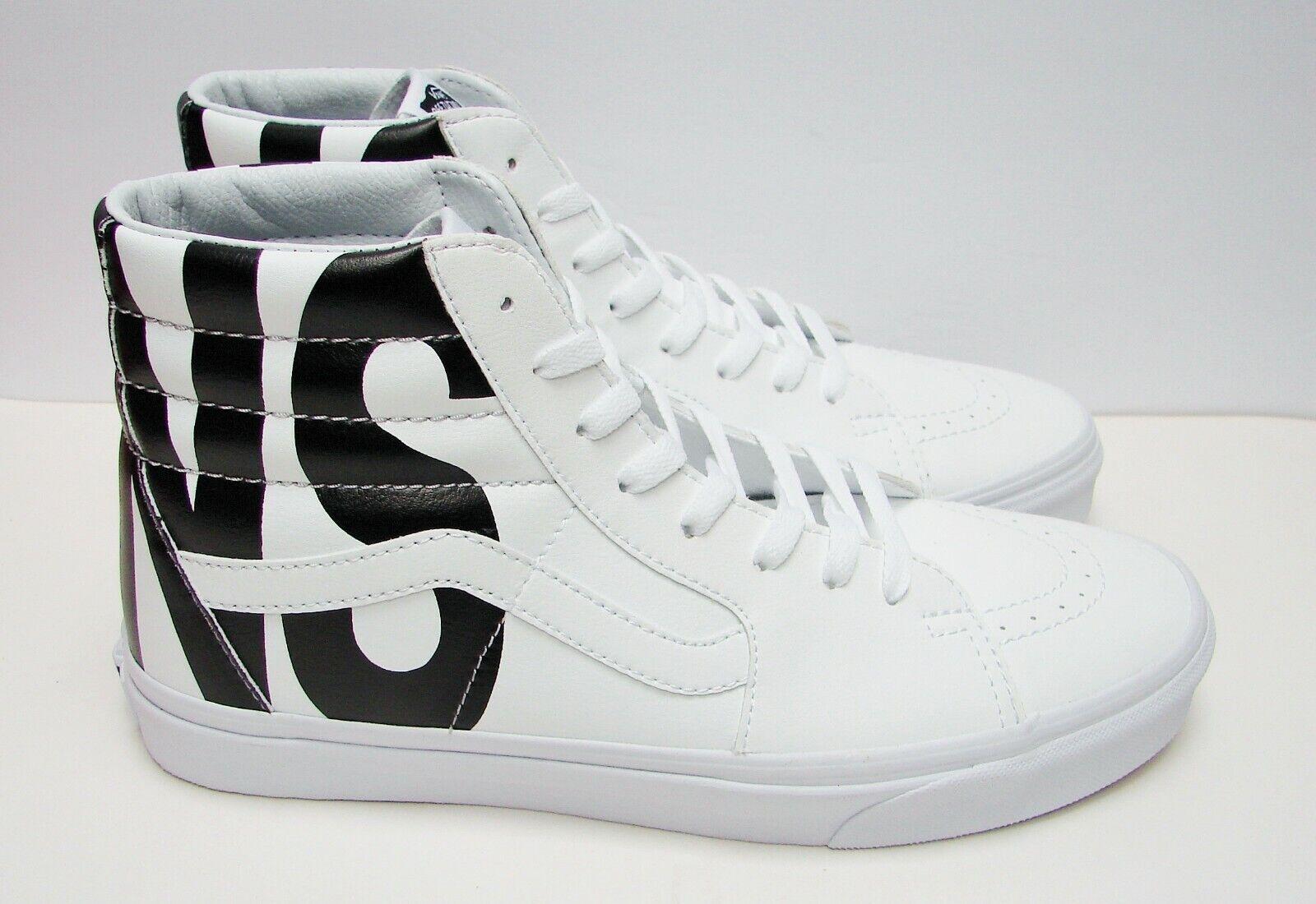 VANS SK8-HI (Classic Tumble) True White VN-0A38GEUBD Men's size  10.5