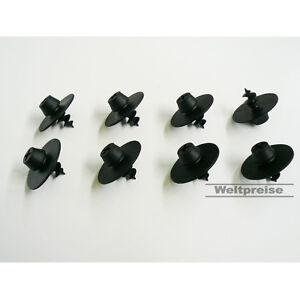 8 x Fußmatten Gummimatten Befestigungen Schrauben rund für Audi Seat Skoda VW