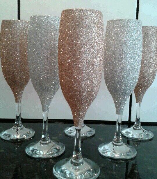 Glitter wine  champagne glass  set of 12 glasses glasses glasses 638227
