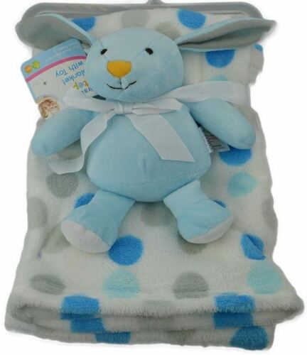 Soft Newborn Baby Blanket Pram Crib Moses Basket Boy Girl Unisex with a Toy