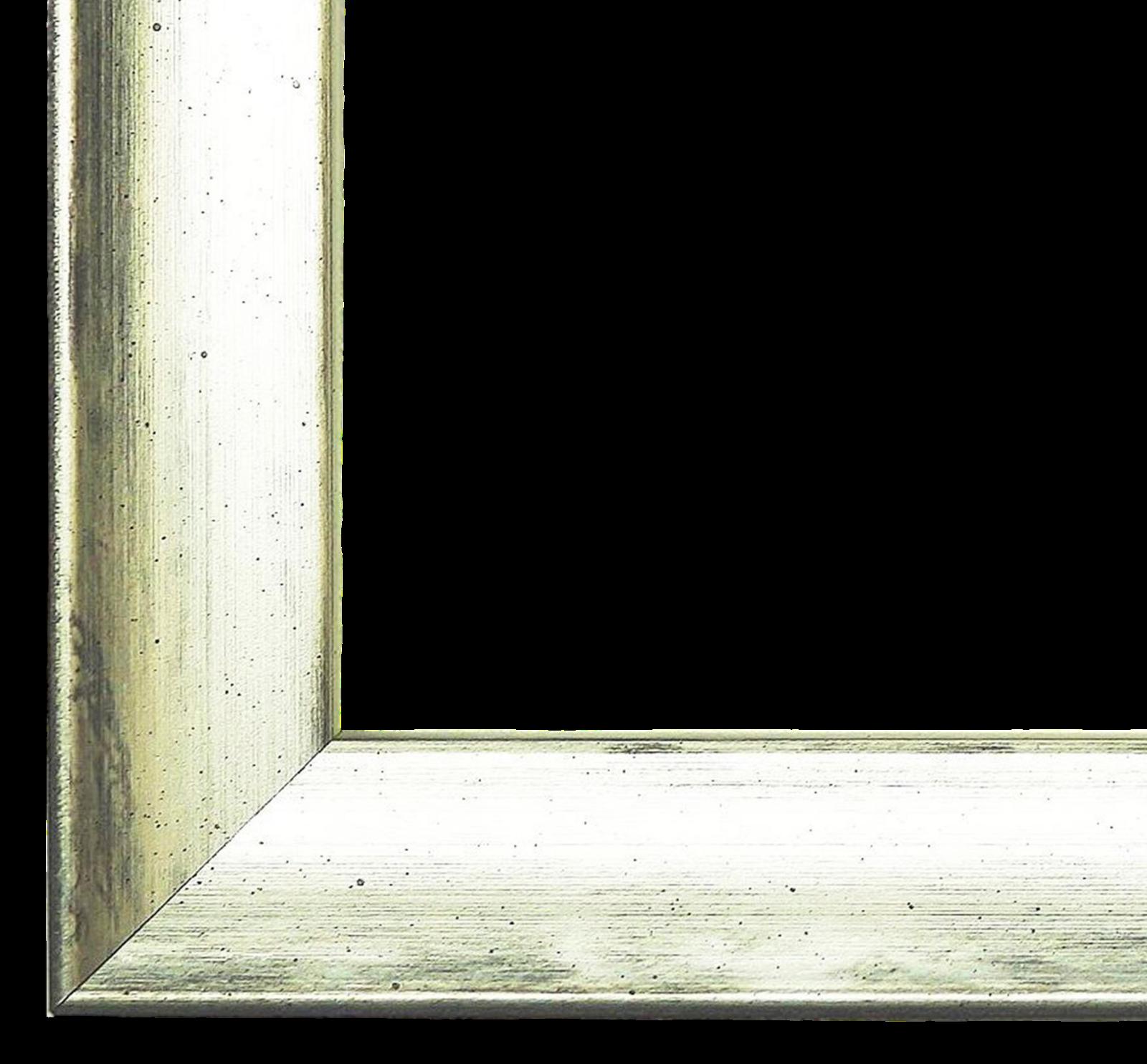 Bilderrahmen Rahmen Holz Retro Donauwörth Silber, Untergrund Schwarz 2,0 - NEU