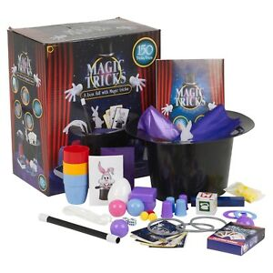 3a1f602e0e1 Kids Magic Set 150 Tricks with Instructions Magician Top Hat Rabbit ...