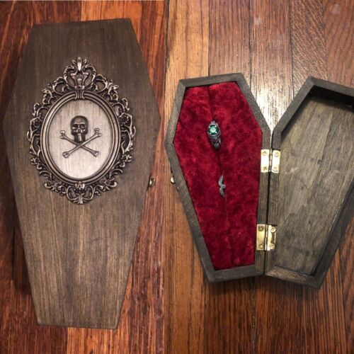 Details about  /Custom listing Roboroy For Vintage Inspired Coffin Engagement Victorian Gothic