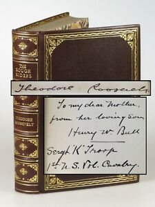 Theodore-Roosevelt-The-Rough-Riders-signed-finely-bound-first-edition