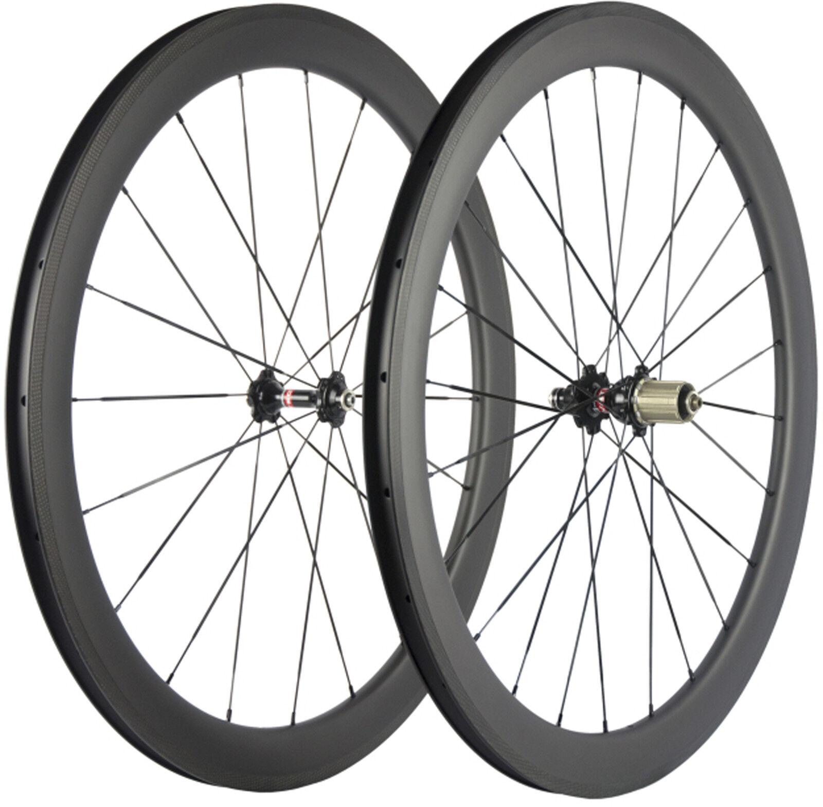 50mm U Shape Clincher Wheelset 700C Road Bike Wheels Novatec 271 Hub UD Shimano