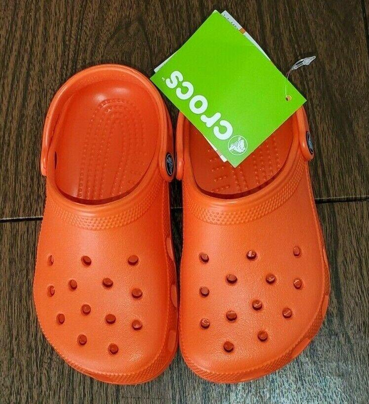 Childrens Unisex Black Crocs Slip On Clog Sandal Ralen Clog K