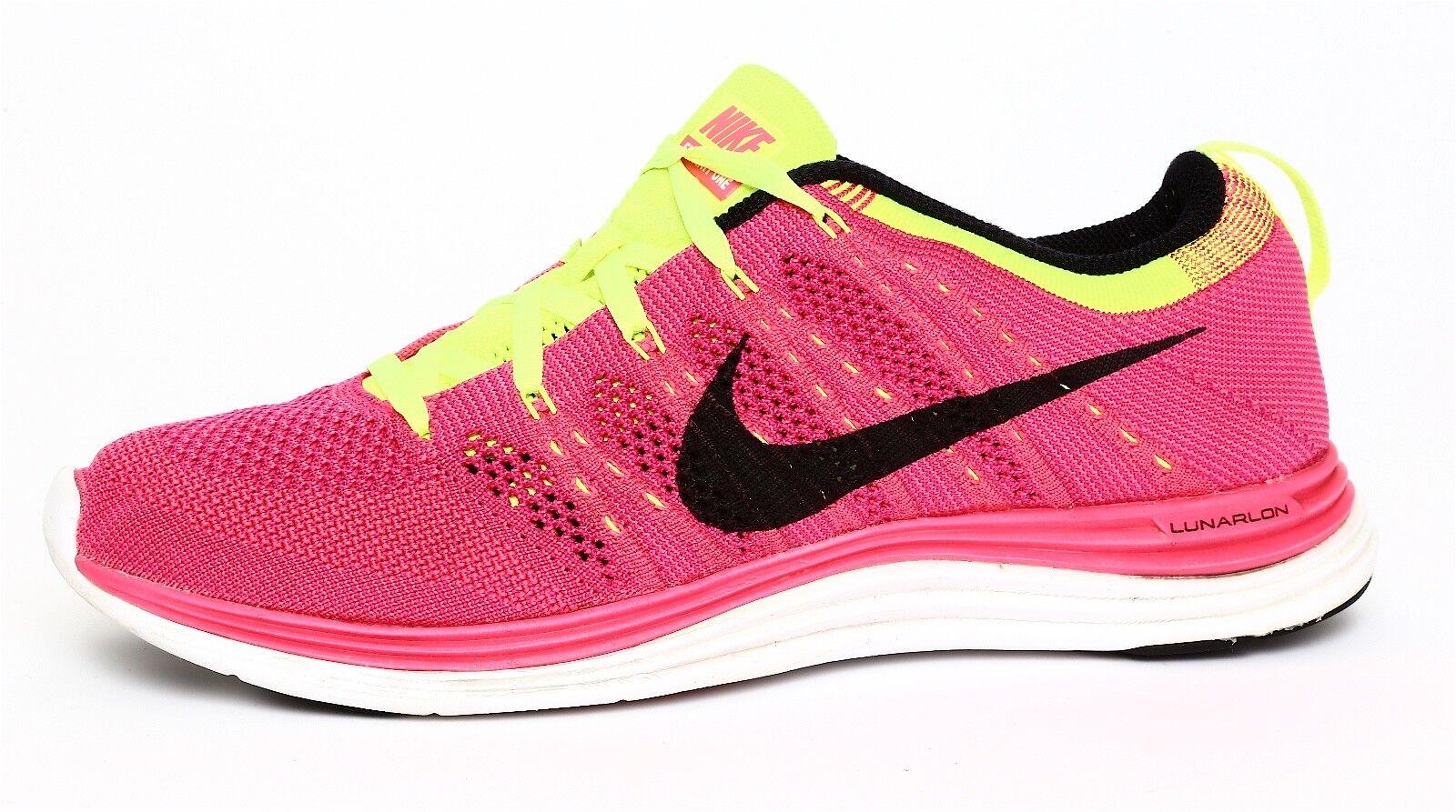 Nike Flyknit One Lunarlon Women's Pink Sneaker Sz 9.5 2062