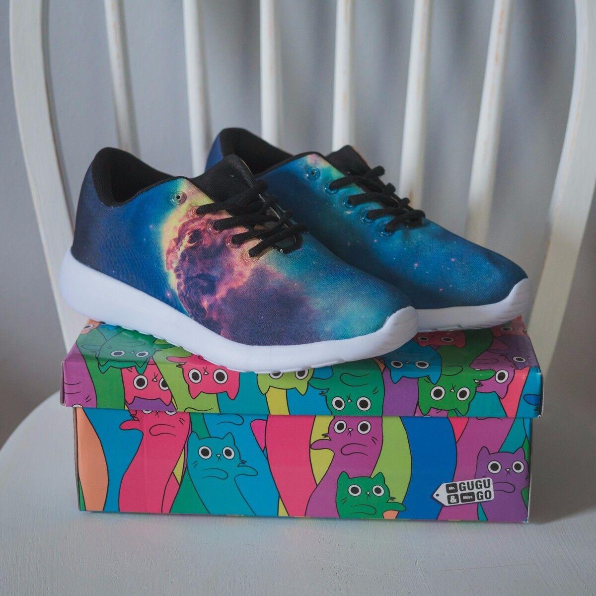 Mr Gugu universe & Miss Go galaxy universe Gugu nebula blue green woman sneakers 38 us 7 new 5c17b2