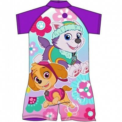 Paw Patrol UV Protection Sunsafe Swimsuit All In One 1-2  2-3 3-4 4-5 Years