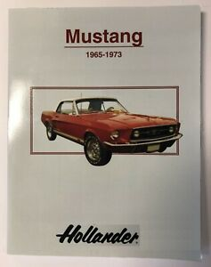 Auto Parts Interchange >> Details About Hollander Ford Mustang Auto Parts Interchange Manual 1965 1973