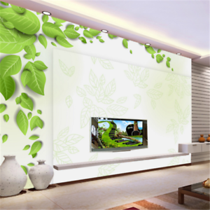 3D Green Leaf Pattern 839 Wallpaper Mural Paper Wall Print Wallpaper Murals UK