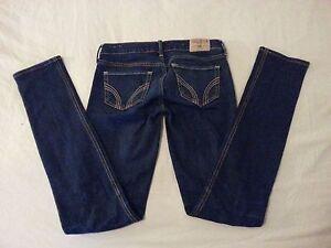 Para Mujer Hollister Skinny Jeans Pantalones Denim 1r Ebay