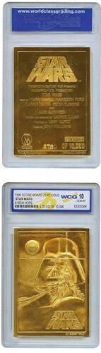 Star Wars 23 Kt Gold Card Sculptured Graded GEM MINT 10 Single Individual Card