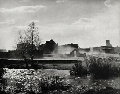 1929/63 Vintage 11x14 DUST STORM Taos New Mexico Landscape Photo Art ANSEL ADAMS