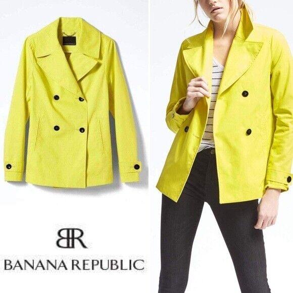 Banana Republic Republic Republic Cruzado Chaqueta Mac, Negro Talla Sp S P  386825 N0302 a2a584