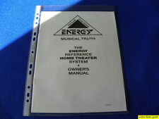 Energy Reference Home Theater System Owner's Manual Operating Instructions  New