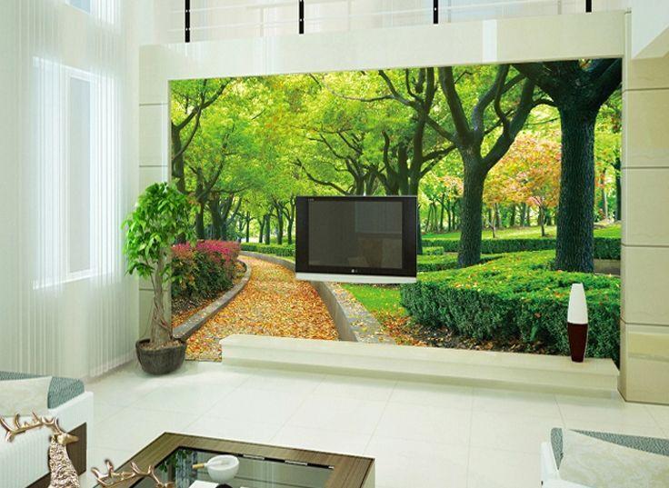 3D Green Grove, yellowe LAUB Fototapeten Wandbild Fototapete BildTapete Familie DE