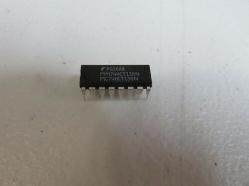 Fairchild MM74HCT138N  MC74HCT138N 16Pin USA Seller Lot of 10 Pieces NEW