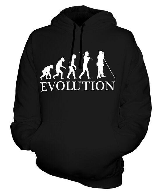 LAND SURVEYOR EVOLUTION OF MAN UNISEX HOODIE  Herren Damenschuhe LADIES GIFT SURVEY