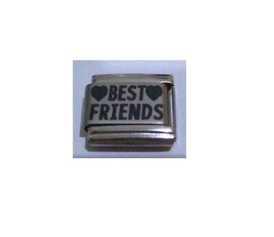 9mm Classic Size Italian Charm L6  Best Friends