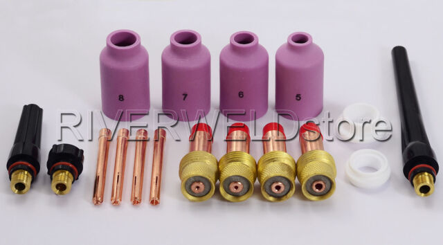 "TIG Gas Lens KIT Size 3//32/"" 45V26 10N24 54N15 54N01 FIT SR WP17 18 26 Torch 4PK"
