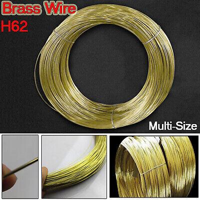 0.3//0.5//0.8//1//1.2//1.5//1.8//2//2.5//3mm Diameter Solid Pure Brass Wire Round 1//3//5M