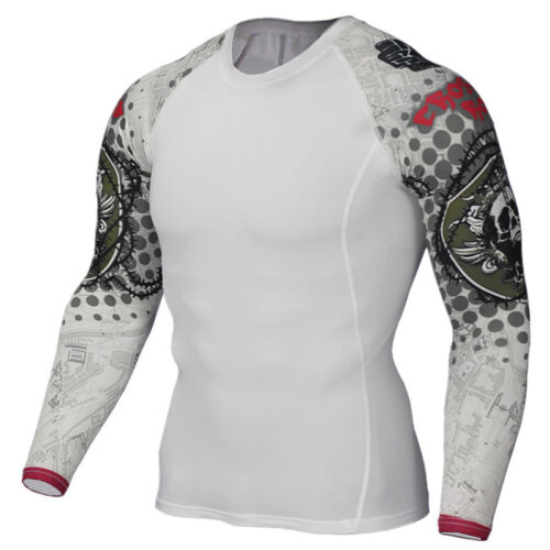 Men Compression Thermal Skin Base Layer Top Gym Sports Long Sleeve Cool Shirt