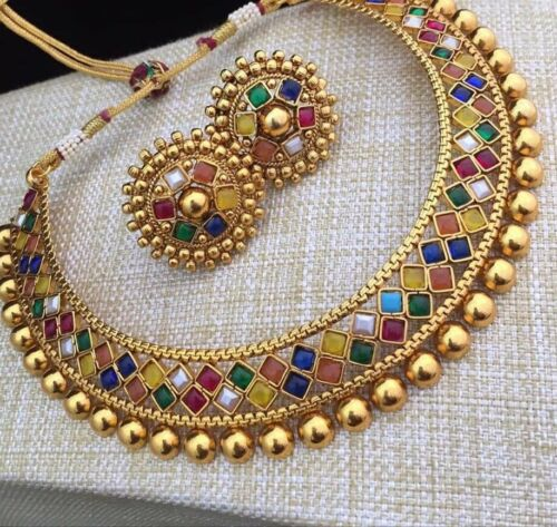 Trendy Indian Fashion Gold Plated Pearl Jhumka Jhumki Earrings Pakistani Jewelry