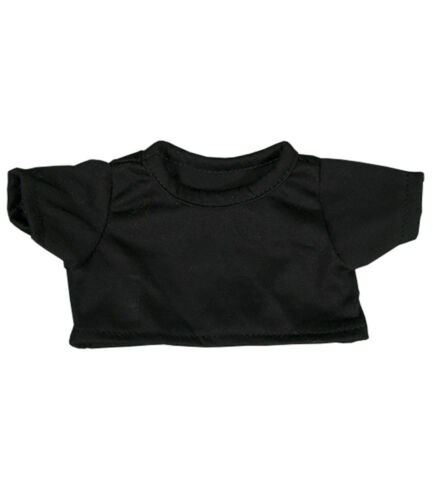"Black T-Shirt Fits Most 8/""-10/"" Webkinz Shining Star and 8/""-10/"" Make Your Own St"