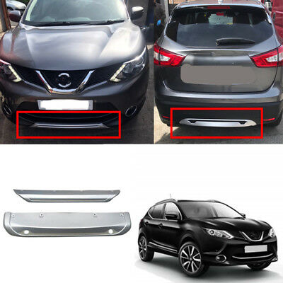 Front Rear Bumper Protector Skid Plate for 2014-2017 Nissan Qashqai Rogue Sport