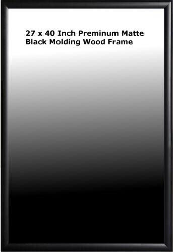 27x40 Poster Frame Premium Matte Black Wood Molding
