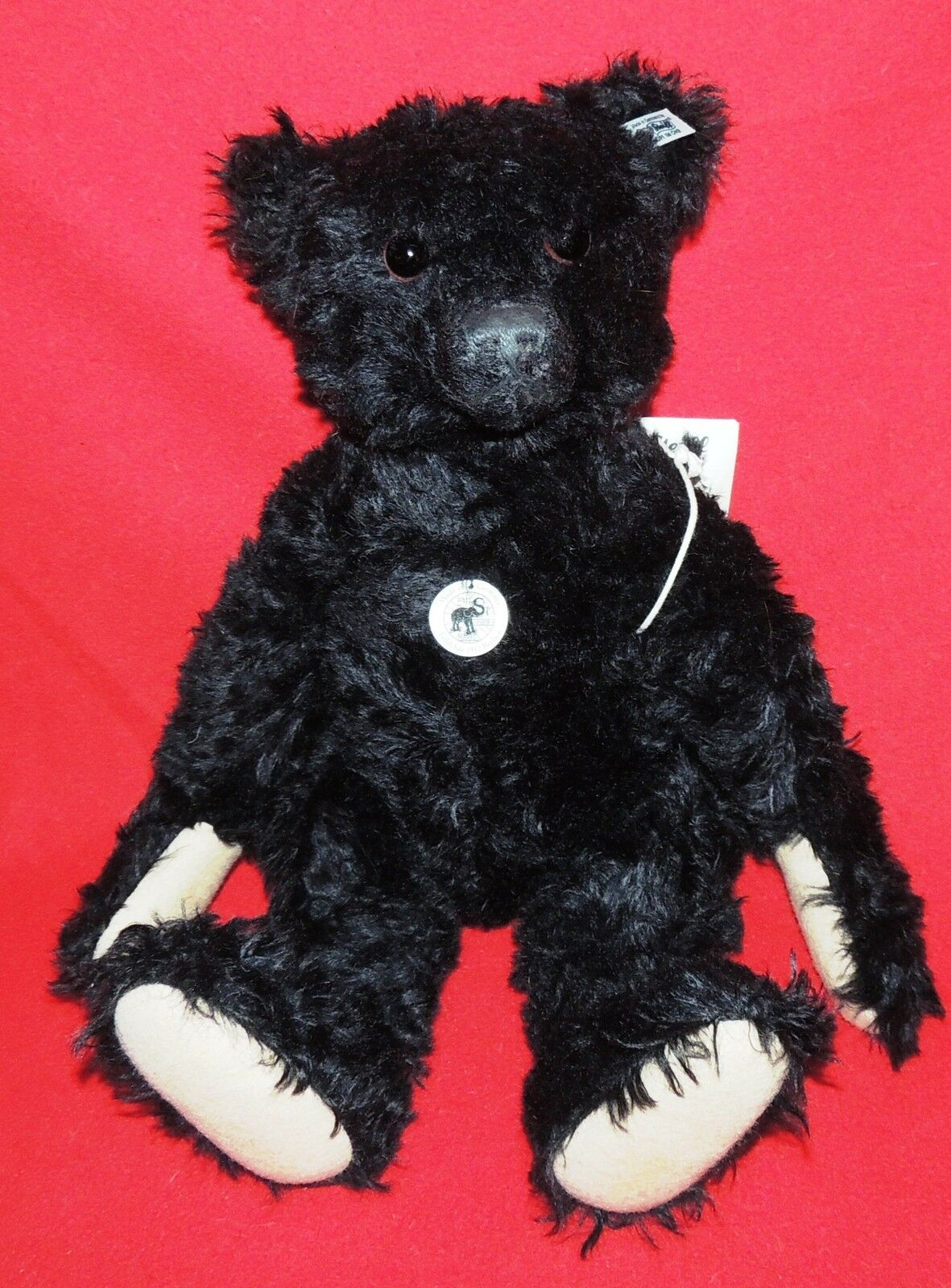 Peluche STEIFF. Teddybär 1912 replica. Grand ours negro 50 cm.   NEUF
