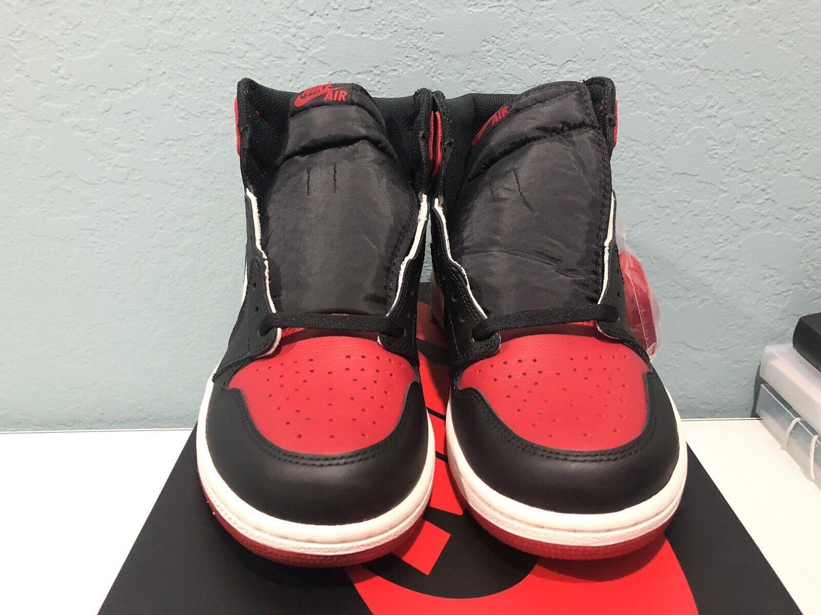 pretty nice eedd4 b58ec New DS Nike Air Jordan 1 High Retro Bred Toe 2018 Size 10 100% Authentic I  AJ1
