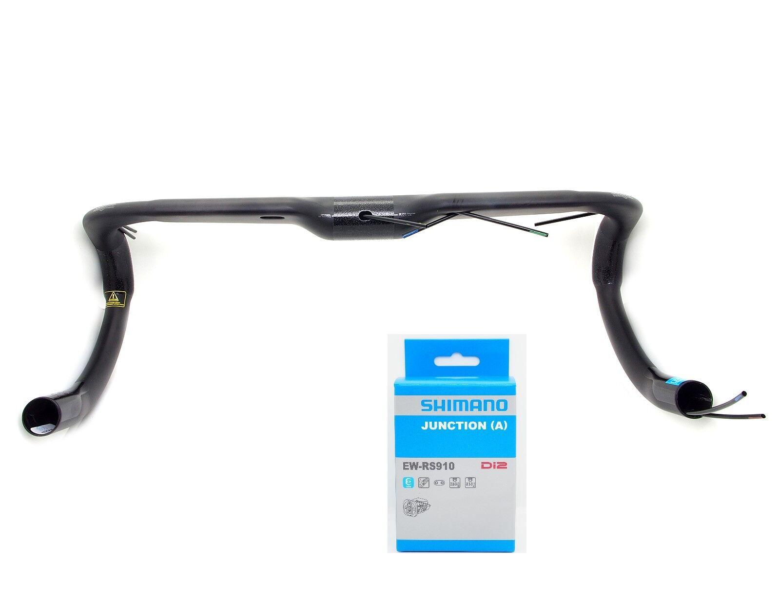 New Shimano PRO Vibe Aero Carbon  Compact Handlebar 40cm w  EW-RS910 Di2 Junction  discount store