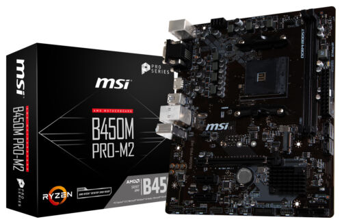 MSI B450M PRO-M2 Socket AM4 AMD B450 SATAIII 6Gb//s USB3.0 Micro-ATX Motherboard