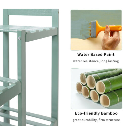 6 Tiered Bamboo Plant Stand Indoor Outdoor Tall Plant Stands for Garden Balcony