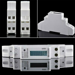 32 A für DIN Hutschiene Digitale Wechselstromzähler Stromzähler Wattmeter S0 5