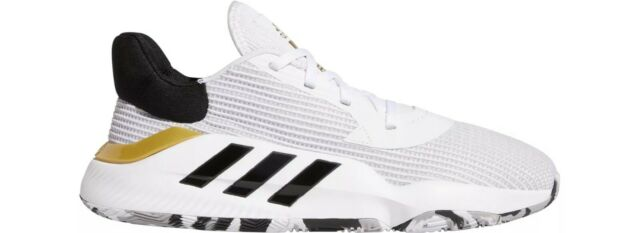 Adidas Mens Pro Bounce 2019 Low Basketball Shoes White Size 14
