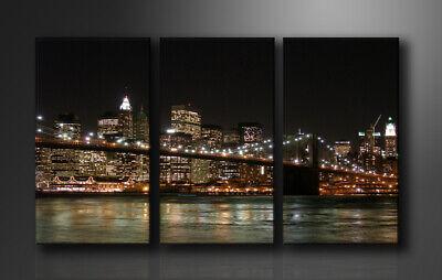 Quadro Su Tela Quadri Moderni New York160 X 90 Cm 3 Tele Modello : Xxl 1008 L'Ultima Moda
