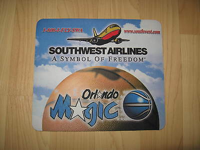 Southwest Airlines SWA Orlando Magic Florida Basketball WN Computer Mouse Pad