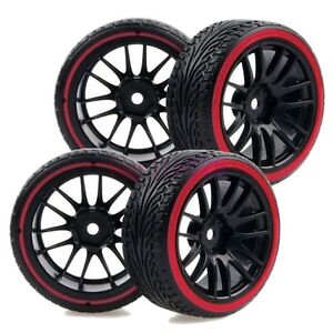 Rc 1 10 On Road Drift Car Hard Plastic Drift Tyre Tires Wheels