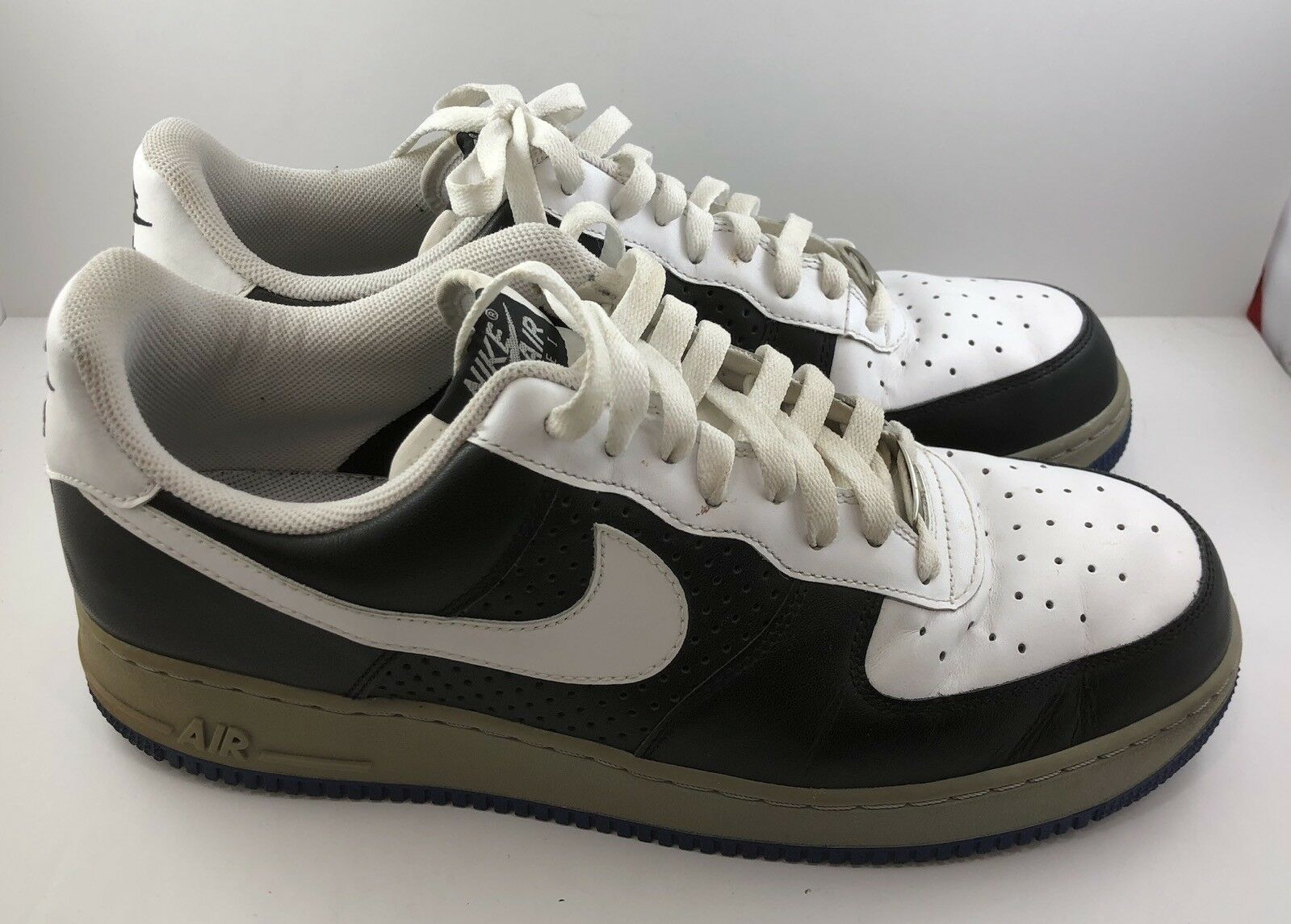 Nike Air Force 1 '07 Low - White Black Grey shoes - 315122-191 Mens Size 13
